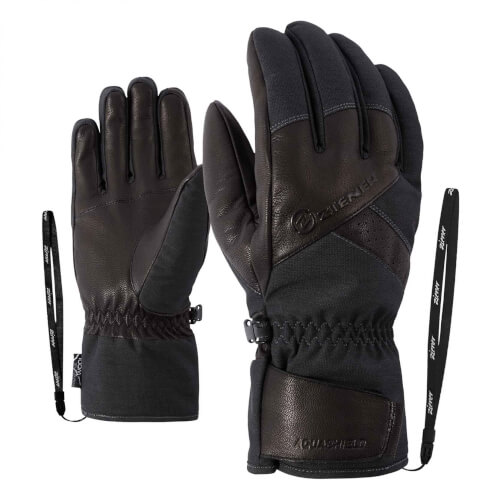 ZIENER Ski Handschuhe Getter Thermo Shield grau 869