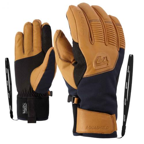 ZIENER Ski Handschuhe Ganzenberg Thermo Shield braun blau 964