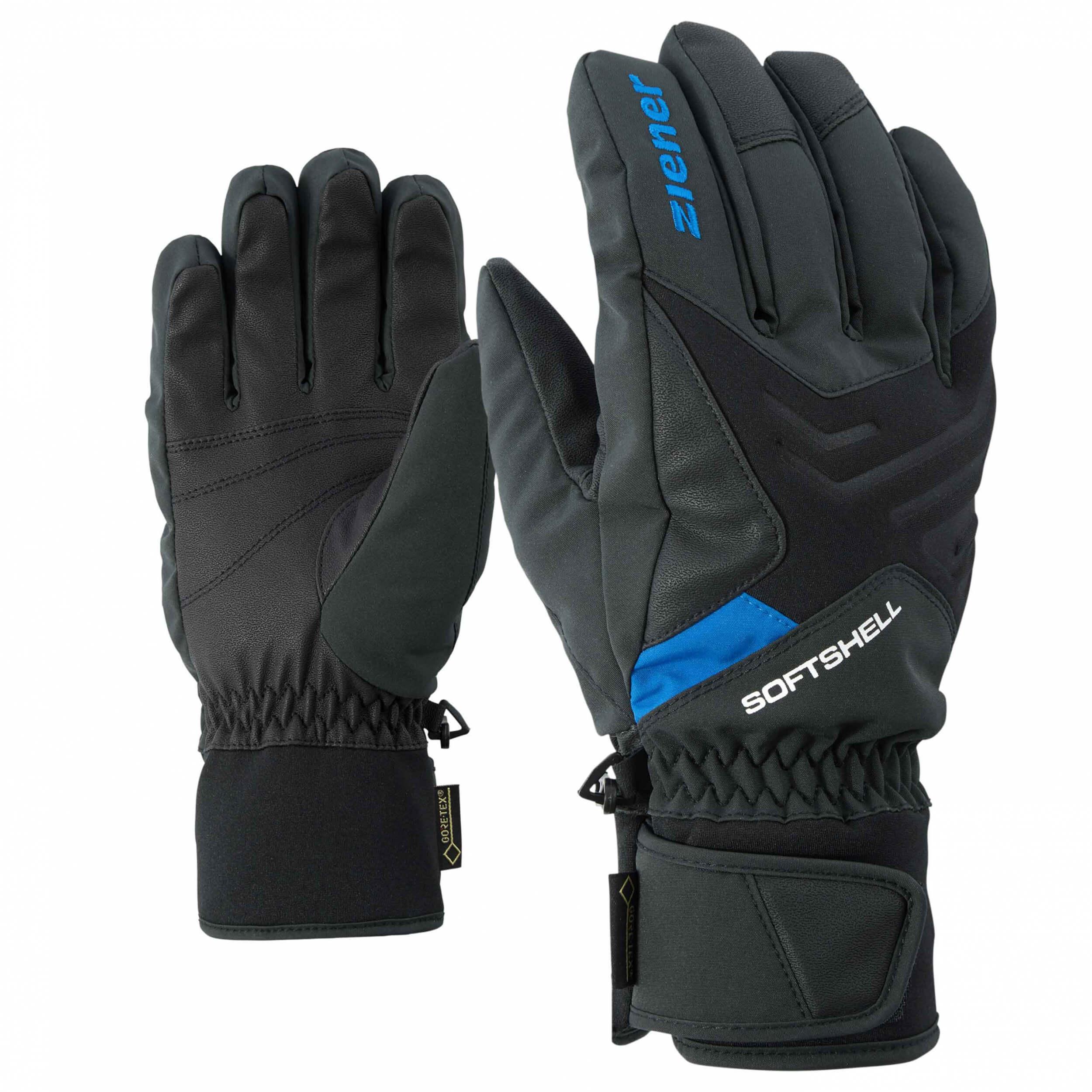ZIENER Ski Handschuhe Gomser GORETEX schwarz blau 12798