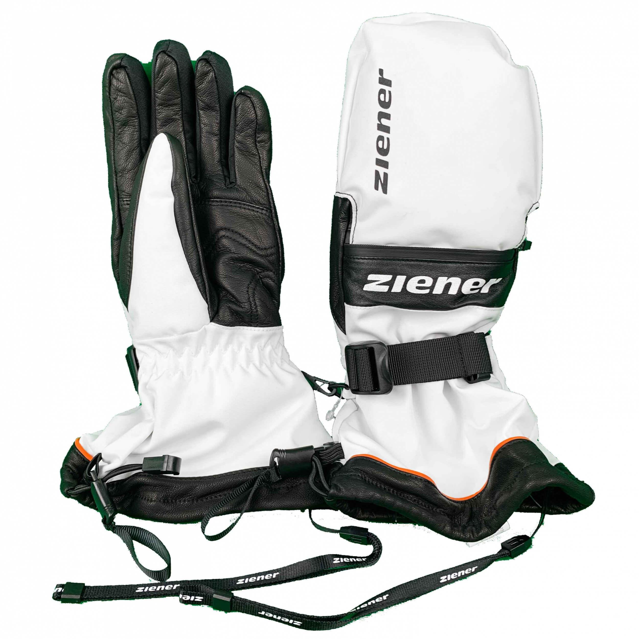 ZIENER Ski Handschuhe extra warm Gallin DCS 01 weiß DSV