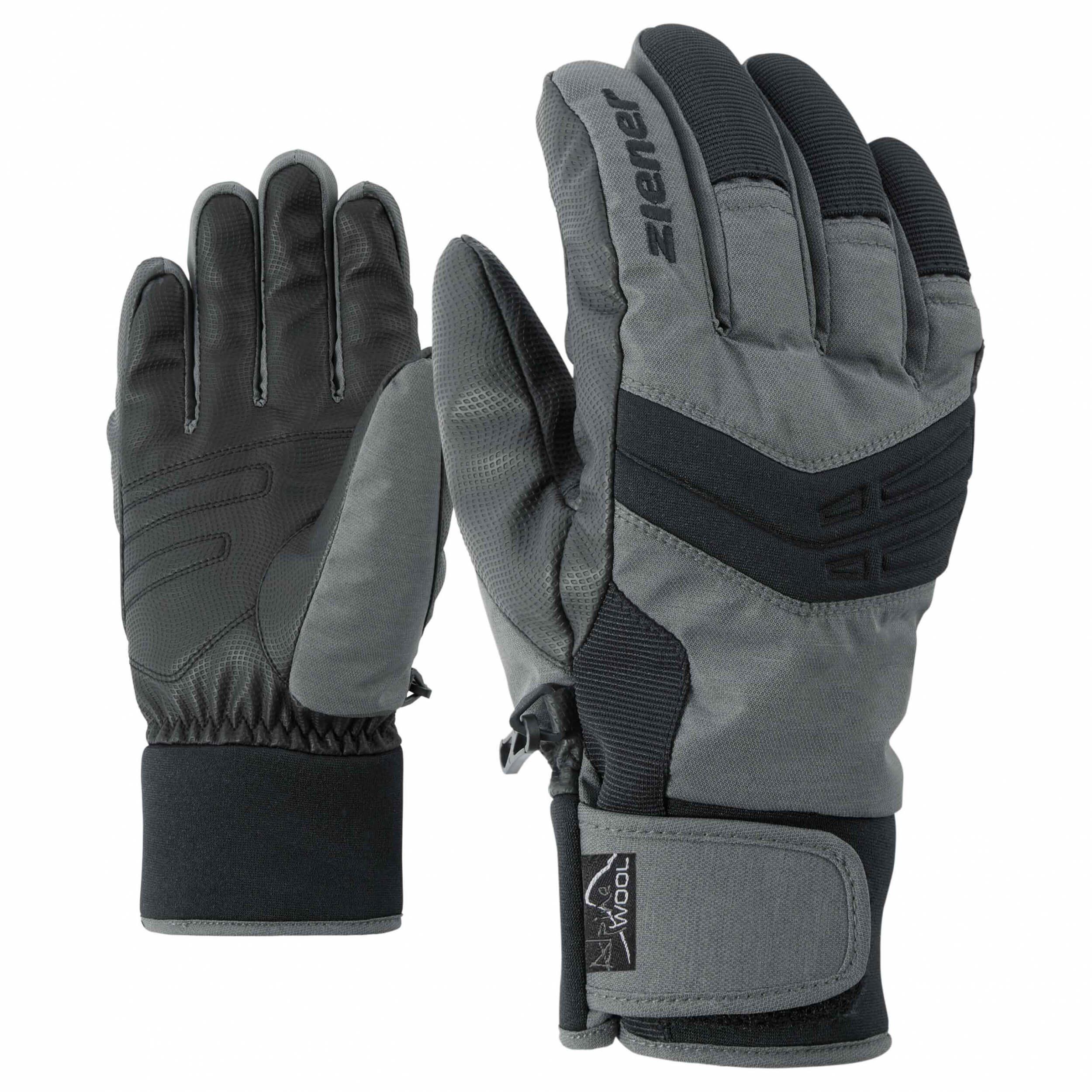 ZIENER Ski Handschuhe extra warm Ginom grau 817