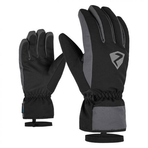 ZIENER Ski-Handschuhe Gerino AQUASHIELD schwarz grau 12757