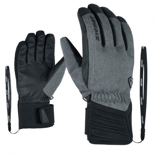 ZIENER Ski Handschuhe Grany THERMO SHIELD grau 922