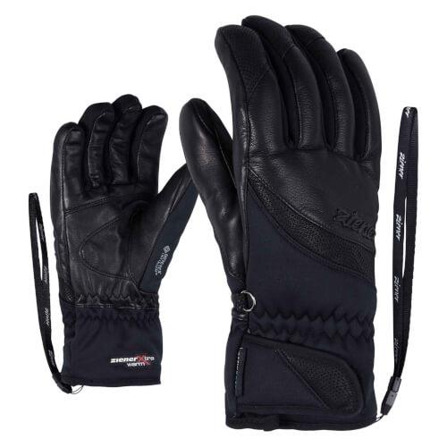 ZIENER Damen Ski Handschuhe Komma GORETEX schwarz 12