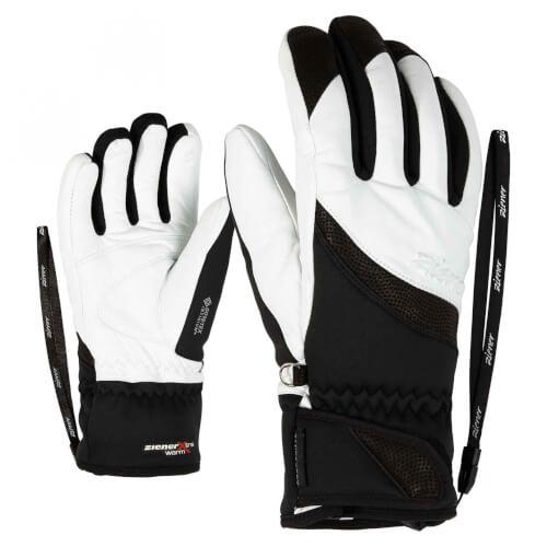 ZIENER Damen Ski Handschuhe Komma GORETEX weiß schwarz 01