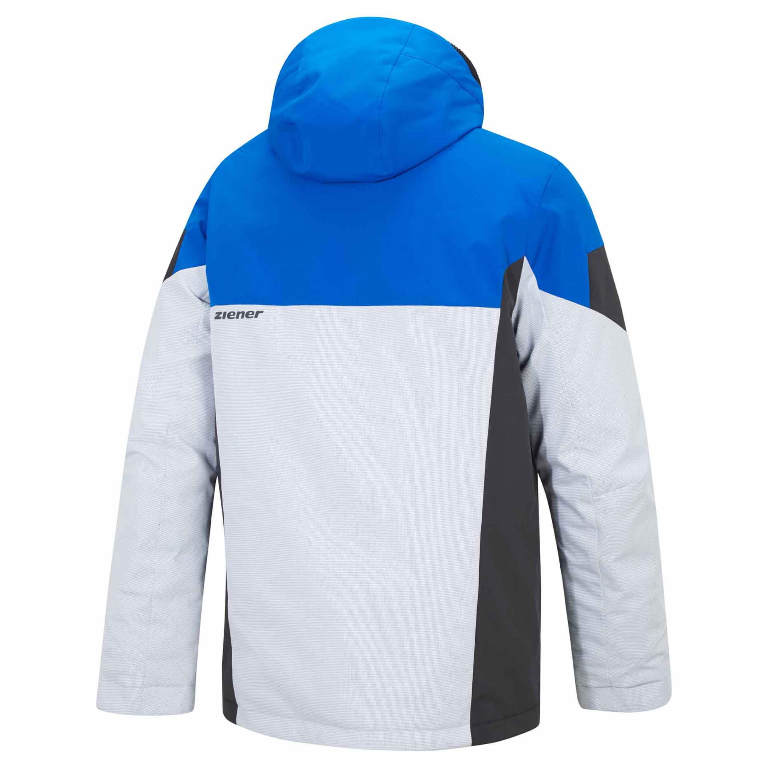 ZIENER Herren Skijacke Toccoa AQUA SHIELD blau grau 576126