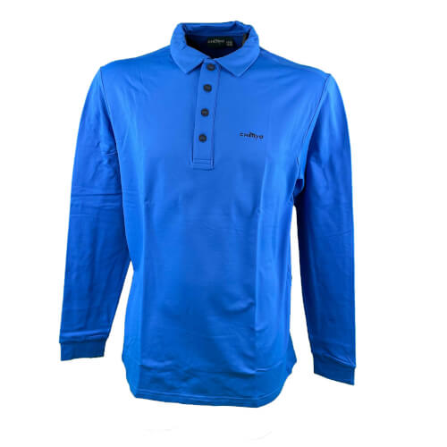 Chervo Herren Polo lang Arm Aurucon royal 2.Wahl
