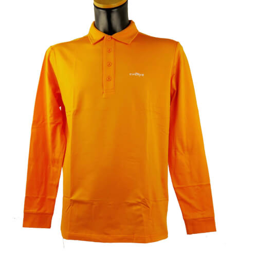 Chervo Herren Polo lang Arm Aurucon orange 2.Wahl