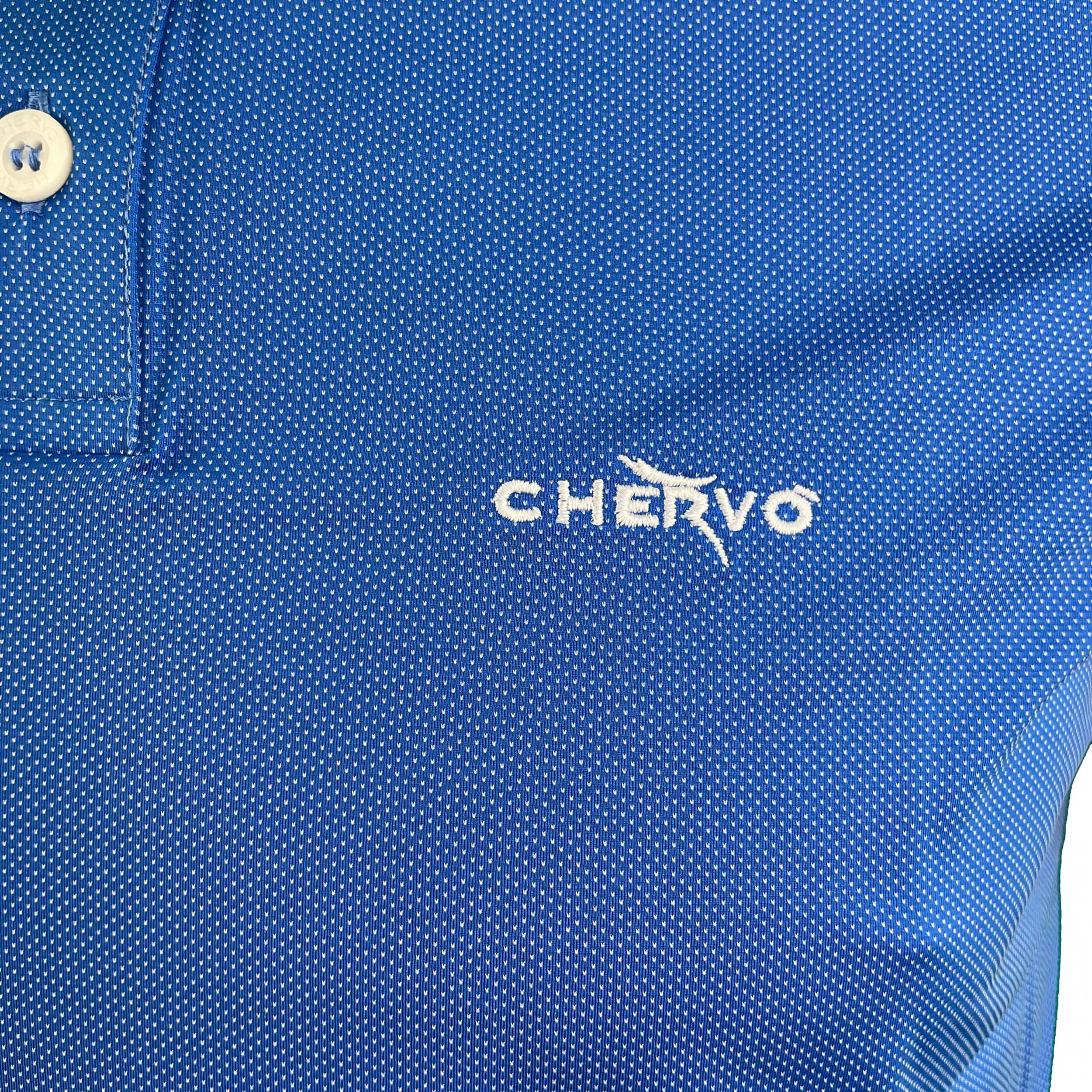 Chervo Herren Polo Aut DRY MATIC blau dot 43E