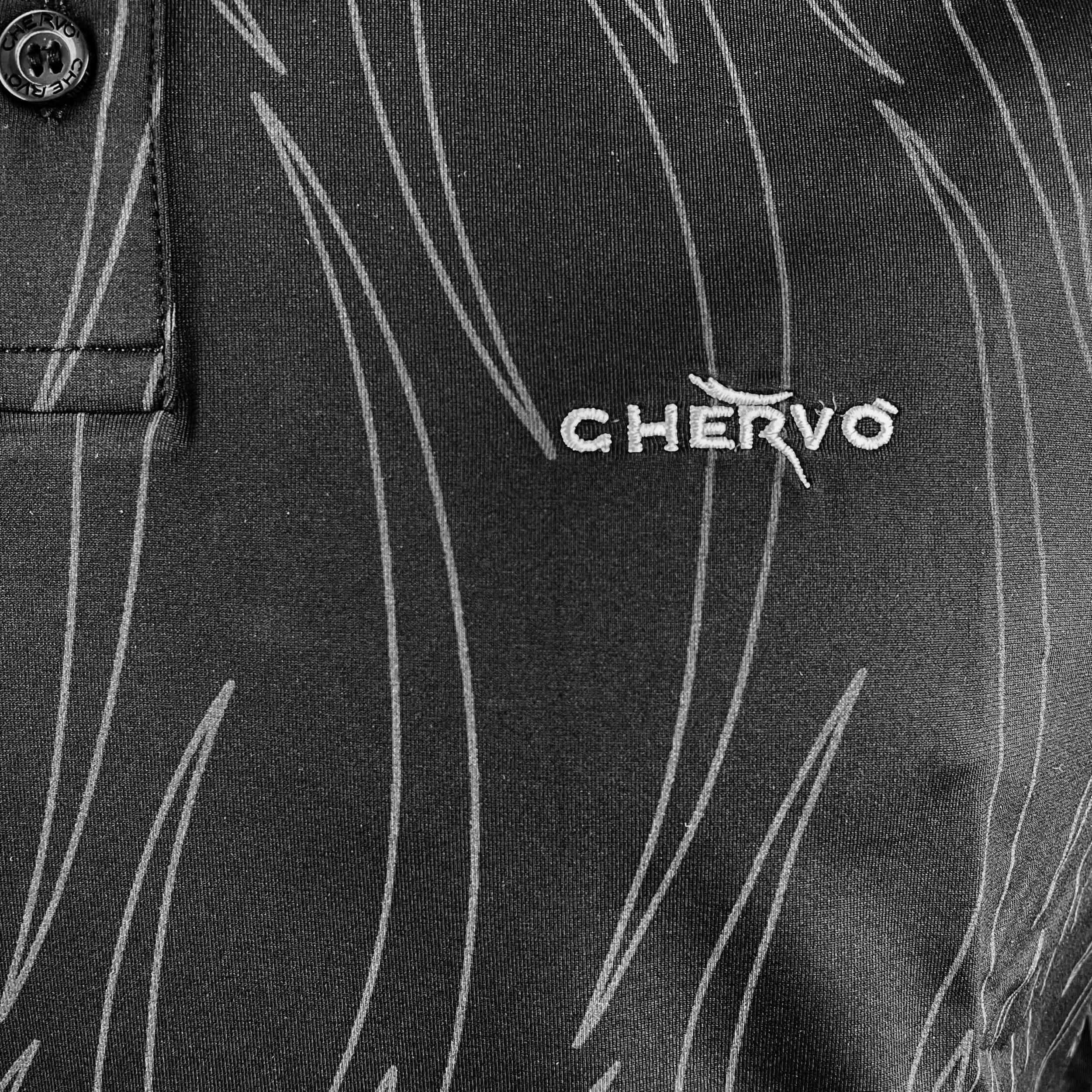 Chervo Herren Polo Aut DRY MATIC schwarz gemustert 99L
