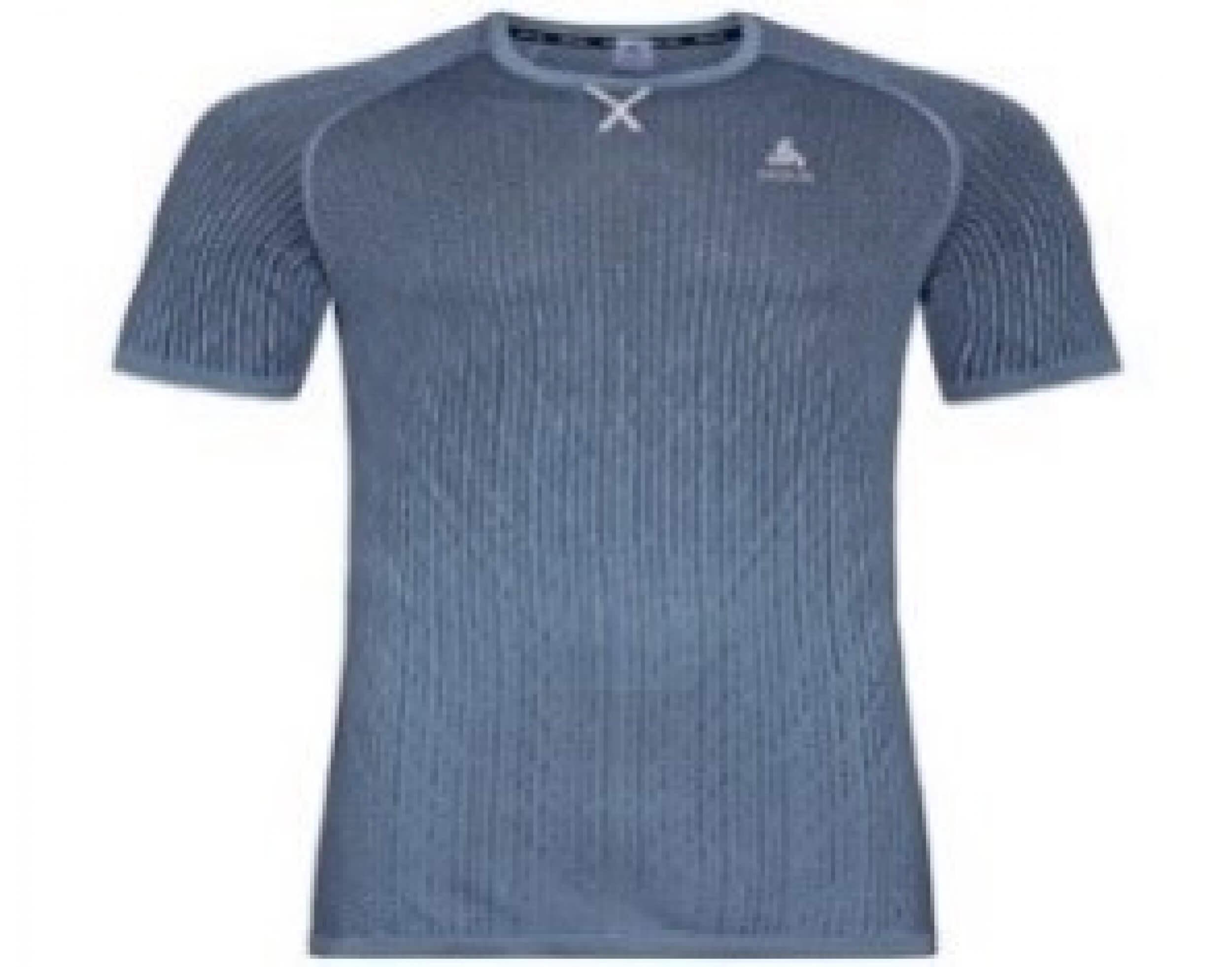 odlo Herren Running Shirt BL Top Crew blau