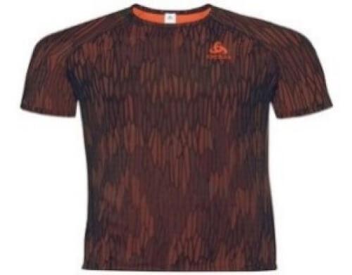 odlo Herren Training Shirt BL Vigor orange schwarz 30404