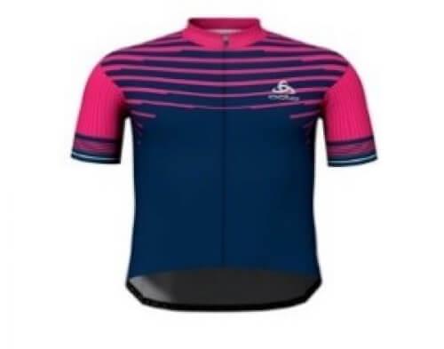 odlo Herren Bike full zip Trikot ZEROWEIGHT PRO magenta 30656
