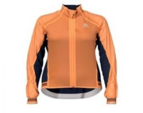 odlo Damen Bike Jacke Zeroweight Dual Dry orange 50054