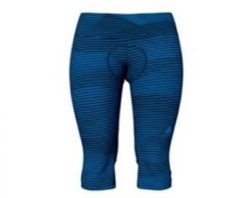 odlo Damen Bike 3/4 Tights Zeroweight print blau 20696