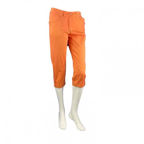 Chervo Damen Capri Hose Socotra SUN BLOCK orange 2.Wahl