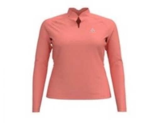 odlo Damen Outdoor Shirt BL Top Crew l/s coral 30521