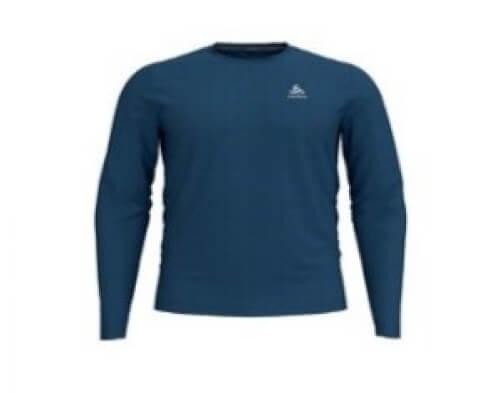 odlo Herren Outdoor Shirt BL Top Crew l/s dunkelblau 24100