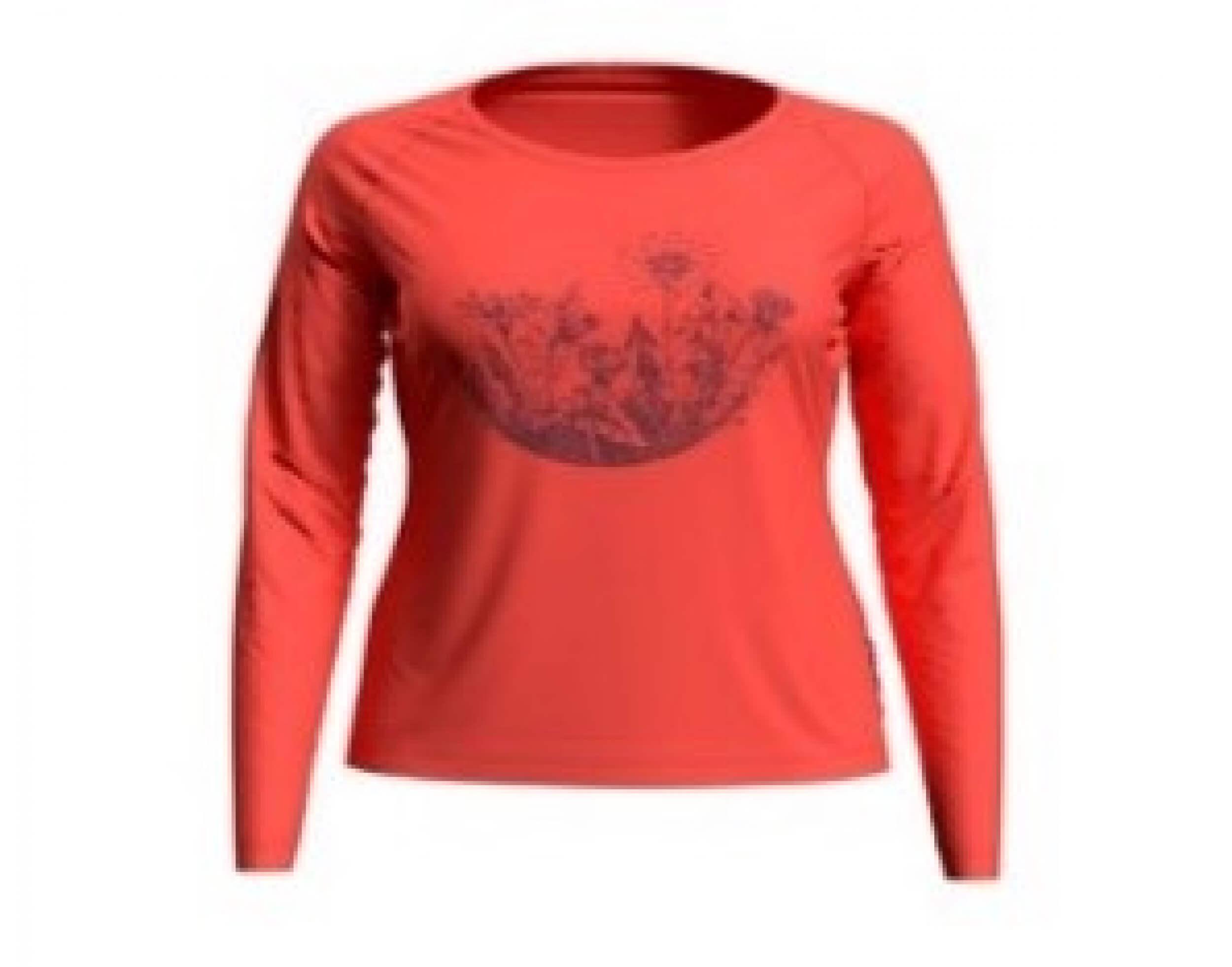 odlo Damen Outdoor Shirt BL Top Concord l/s coral 30662