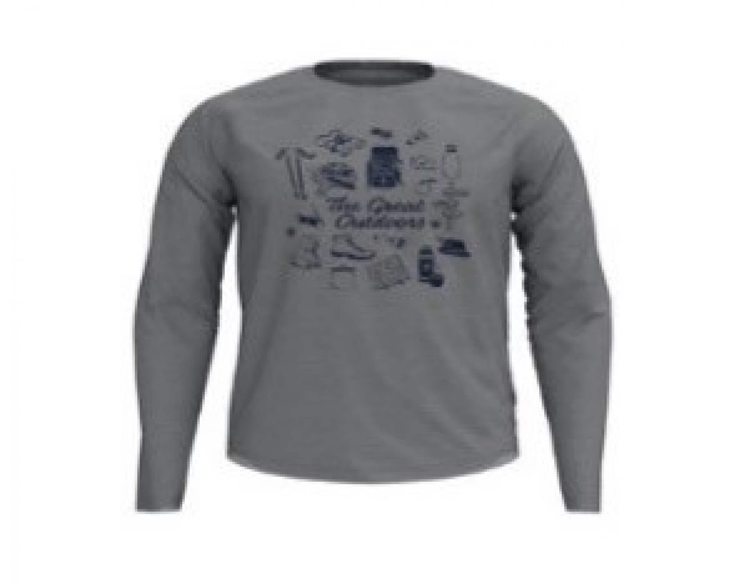 odlo Herren Outdoor Shirt BL Top Concord l/s grau 10628