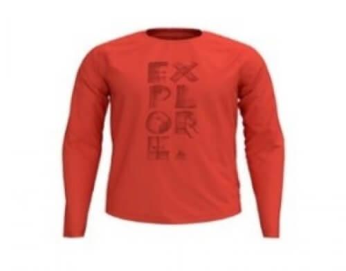 odlo Herren Outdoor Shirt BL Top Concord l/s orange 30536