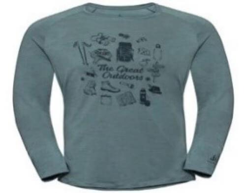 odlo Herren Outdoor Shirt BL Top Concord l/s mint 40266