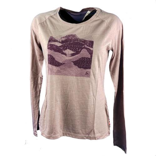 odlo Damen Outdoor Shirt BL Top Concord l/s altrosa 30560