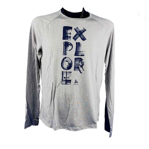 odlo Herren Outdoor Shirt BL Top Concord l/s grau 10627