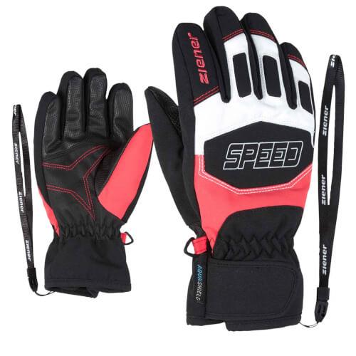 ZIENER Kinder Ski-Handschuhe Leedim AQUASHIELD rot 376