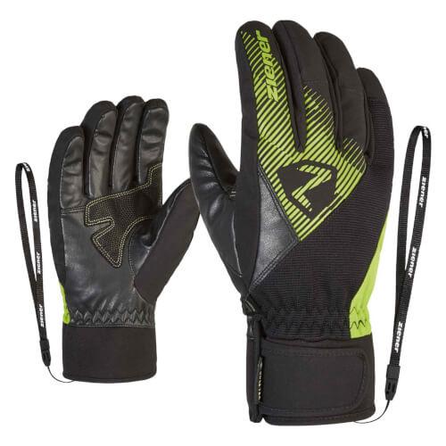 ZIENER Ski Handschuhe Gido GORETEX schwarz grün 568