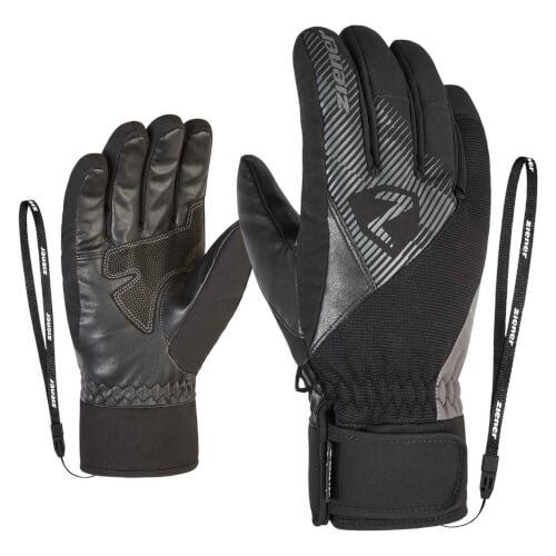 ZIENER Ski Handschuhe Gido GORETEX schwarz grau 757